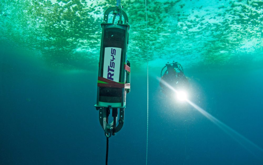 Underwater acoustic recorder in the north pole